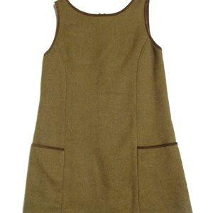 Ralph Lauren Navy Label suede trim Girls Dress 10